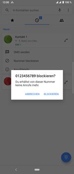 Sony Xperia 10 Plus - Anrufe - Anrufe blockieren - Schritt 6