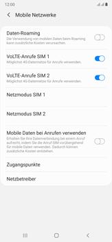 Samsung Galaxy Note 20 Ultra 5G - Internet und Datenroaming - Deaktivieren von Datenroaming - Schritt 7