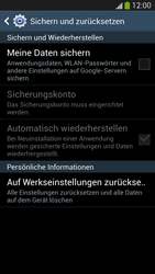 Samsung Galaxy S 4 Active - Gerät - Zurücksetzen auf die Werkseinstellungen - Schritt 6