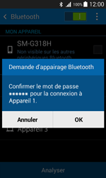 Samsung G318H Galaxy Trend 2 Lite - Bluetooth - connexion Bluetooth - Étape 9