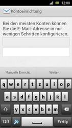 Sony Xperia U - E-Mail - Manuelle Konfiguration - Schritt 5