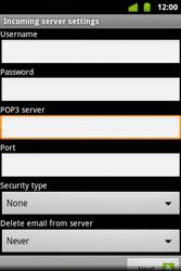 Alcatel OT-983 - E-mail - Manual configuration - Step 13