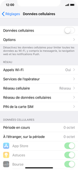 Apple iPhone XS - Internet - Désactiver les données mobiles - Étape 5