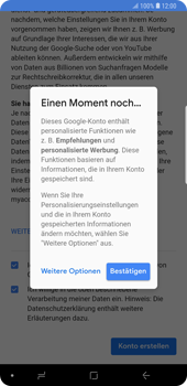 Samsung Galaxy Note9 - Apps - Konto anlegen und einrichten - 18 / 22