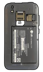 LG P970 Optimus Black - SIM-Karte - Einlegen - Schritt 5