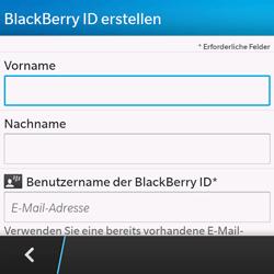 BlackBerry Q10 - Apps - Einrichten des App Stores - Schritt 9