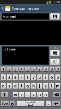 Samsung Galaxy Note 3 - Contact, Appels, SMS/MMS - Envoyer un SMS - Étape 10
