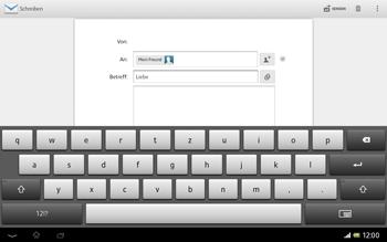 Sony Xperia Tablet Z LTE - E-Mail - E-Mail versenden - 2 / 2
