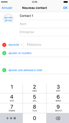 Apple iPhone 6s - Contact, Appels, SMS/MMS - Ajouter un contact - Étape 8