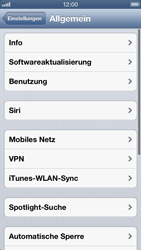 Apple iPhone 5 - Software - Installieren von Software-Updates - Schritt 6