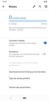 Google Pixel 3a - Internet et connexion - Désactiver la connexion Internet - Étape 6