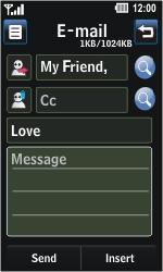 LG GD510 Pop - E-mail - Sending emails - Step 8
