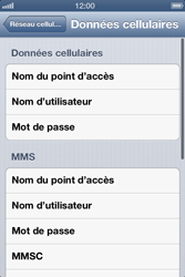 Apple iPhone 3GS - Internet et roaming de données - Configuration manuelle - Étape 7