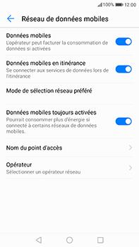 Huawei P10 Plus - Internet et roaming de données - Désactivation du roaming de données - Étape 5
