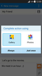 Samsung G530FZ Galaxy Grand Prime - MMS - Sending pictures - Step 15