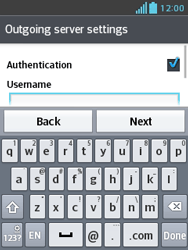 LG E430 Optimus L3 II - Email - Manual configuration POP3 with SMTP verification - Step 18