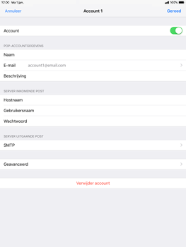 Apple ipad-9-7-ios-12 - E-mail - Account instellen (POP3 zonder SMTP-verificatie) - Stap 16