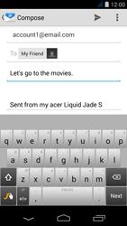 Acer Liquid Jade S - E-mail - Sending emails - Step 8