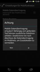 Sony Xperia Z - Internet und Datenroaming - Prüfen, ob Datenkonnektivität aktiviert ist - Schritt 7
