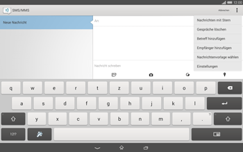 Sony Xperia Tablet Z2 LTE - MMS - Erstellen und senden - 1 / 1