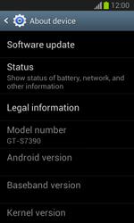 Samsung Galaxy Trend Lite - Software - Installing software updates - Step 6