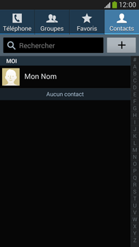 Samsung Galaxy Note 3 - Contact, Appels, SMS/MMS - Ajouter un contact - Étape 4