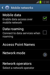 Samsung Galaxy Fame Lite - Internet and data roaming - Disabling data roaming - Step 7