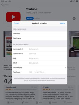 Apple iPad Mini 4 - iOS 12 - Apps - Konto anlegen und einrichten - Schritt 18