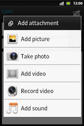 Sony ST27i Xperia Go - E-mail - Sending emails - Step 10
