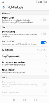 Huawei P20 Lite - Internet und Datenroaming - Prüfen, ob Datenkonnektivität aktiviert ist - Schritt 5