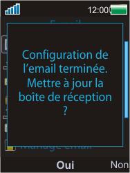 Sony W595 - E-mail - Configuration manuelle - Étape 11
