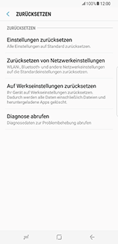 Samsung Galaxy S8 Plus - Fehlerbehebung - Handy zurücksetzen - 8 / 12