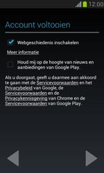 Samsung I8190 Galaxy S III Mini - Applicaties - Account aanmaken - Stap 10