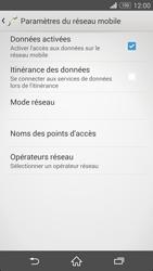 Sony Xperia Z3 - Internet et roaming de données - Comment vérifier que la connexion des données est activée - Étape 8