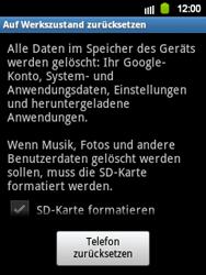 Samsung S5360 Galaxy Y - Fehlerbehebung - Handy zurücksetzen - Schritt 8