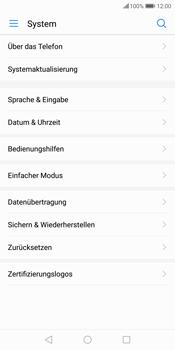Huawei P Smart - Fehlerbehebung - Handy zurücksetzen - 8 / 12