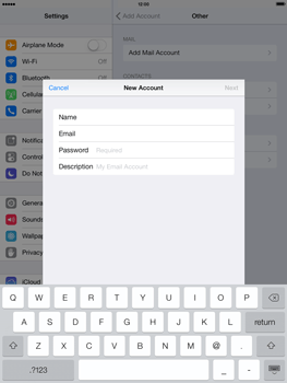 Apple iPad Retina iOS 7 - E-mail - manual configuration - Step 12