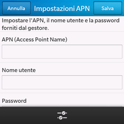 BlackBerry Q10 - Internet e roaming dati - Configurazione manuale - Fase 8