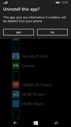 Microsoft Lumia 535 - Applications - How to uninstall an app - Step 5