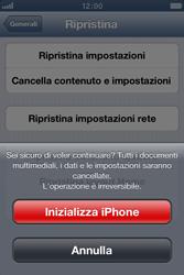 Apple iPhone 4 - Dispositivo - Ripristino delle impostazioni originali - Fase 8