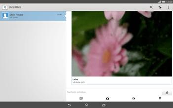 Sony Xperia Tablet Z2 LTE - MMS - Erstellen und senden - 2 / 2