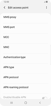Samsung Galaxy S9 - Android Pie - MMS - Manual configuration - Step 11