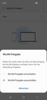 Samsung Galaxy S10 - WiFi - So aktivieren Sie einen WLAN-Hotspot - Schritt 7