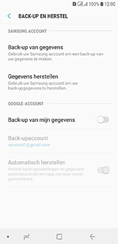 Samsung Galaxy A6 - Data - maak een back-up met je account - Stap 6