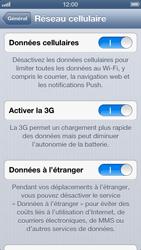 Apple iPhone 5 - Internet et roaming de données - Désactivation du roaming de données - Étape 5