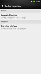 HTC One Mini - Dispositivo - Ripristino delle impostazioni originali - Fase 6