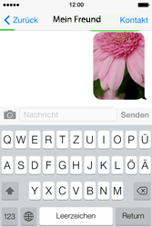 Apple iPhone 4 S mit iOS 7 - MMS - Erstellen und senden - Schritt 16