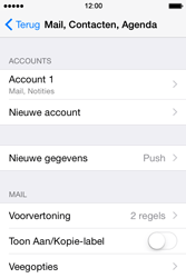 Apple iPhone 4s iOS 8 - E-mail - Account instellen (IMAP zonder SMTP-verificatie) - Stap 28