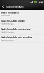 HTC Desire 500 - Anrufe - Rufumleitungen setzen und löschen - 6 / 9