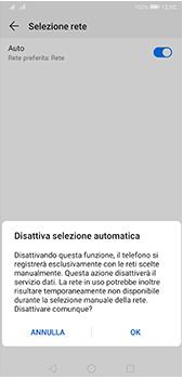 Huawei P20 Pro - Android Pie - Rete - Selezione manuale della rete - Fase 7
